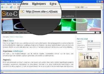 Een voorbeeld hoe de URL Replacer module gebruikt kan worden