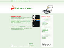 De website van MKB-Totaalpakket